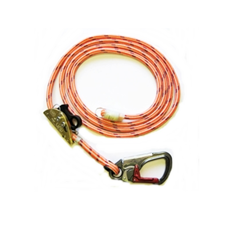 10' Safety Lanyard-ISC Snap & Rope Grab